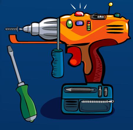 Dale Sullivan - Vector Illustration - Electric Drill