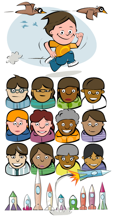 Abacus maths book illustration
