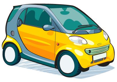 Smart car 4 tone poster