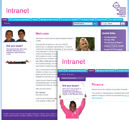 Great Ormond Street Intranet