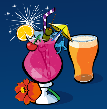 Dale Sullivan - Vector Illustration - Cocktail