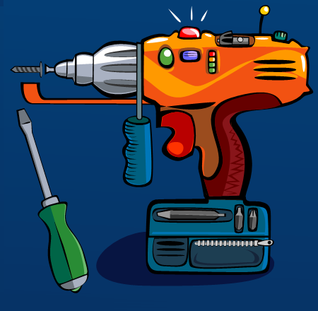 Dale Sullivan - Vector Illustration - Electric Drill