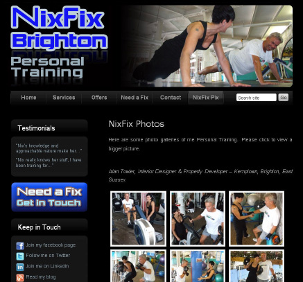 Fitness instructor site and blog